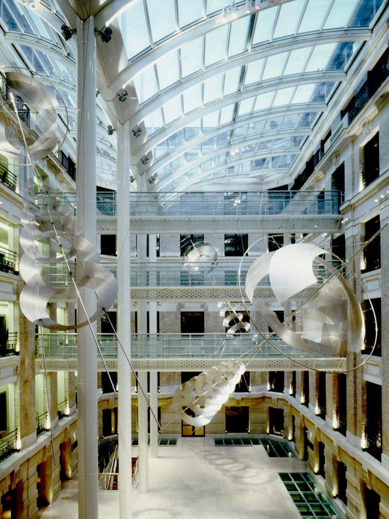 Sculpture Alcatel headquarters Paris Thierry Vidé Design