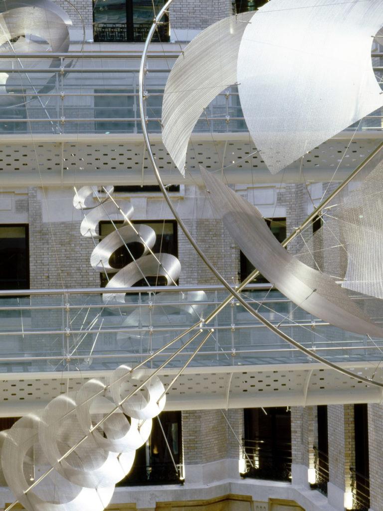 Sculpture Alcatel Paris headquarters focus Thierry Vidé Design