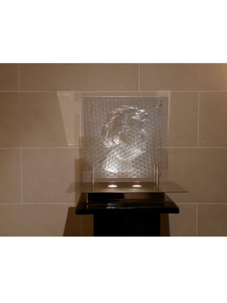 Sculpture autoportrait exposition Galerie Roland Berger Thierry Vidé Design