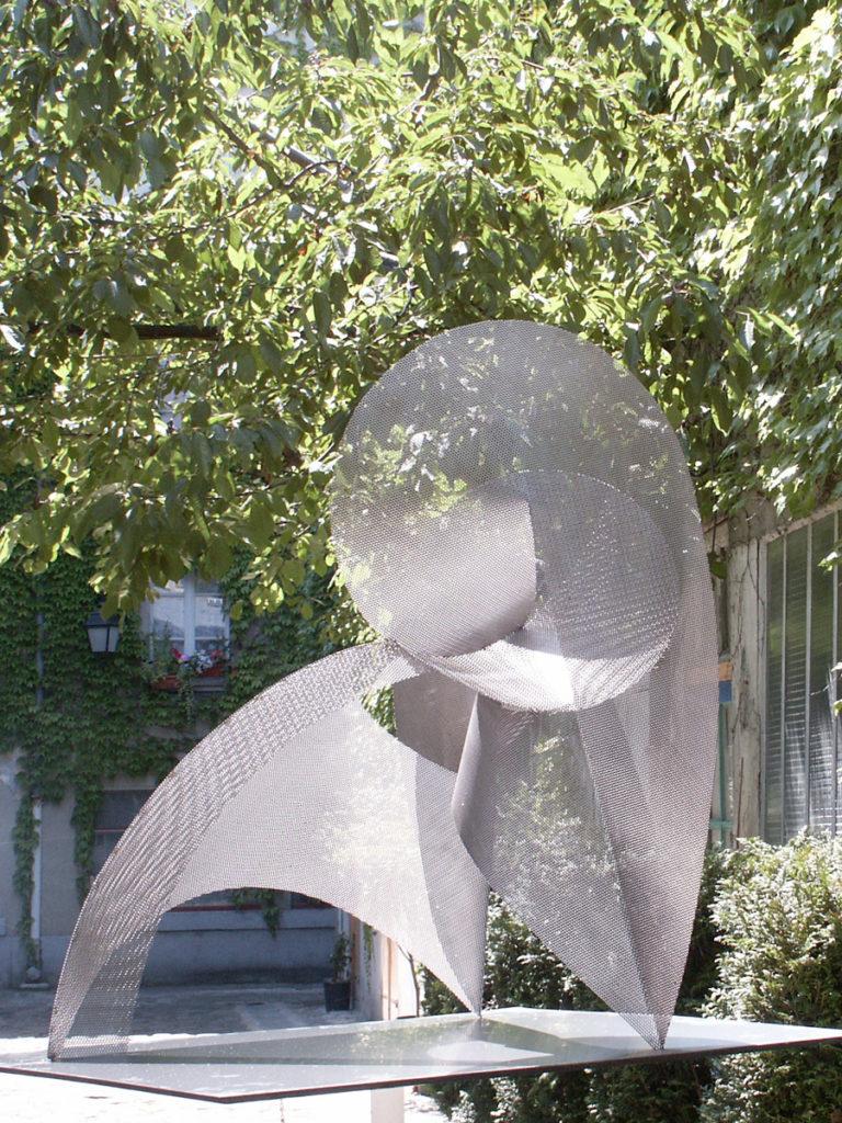 Sculpture circumference exhibition garden Roland Berger Thierry Vidé Design