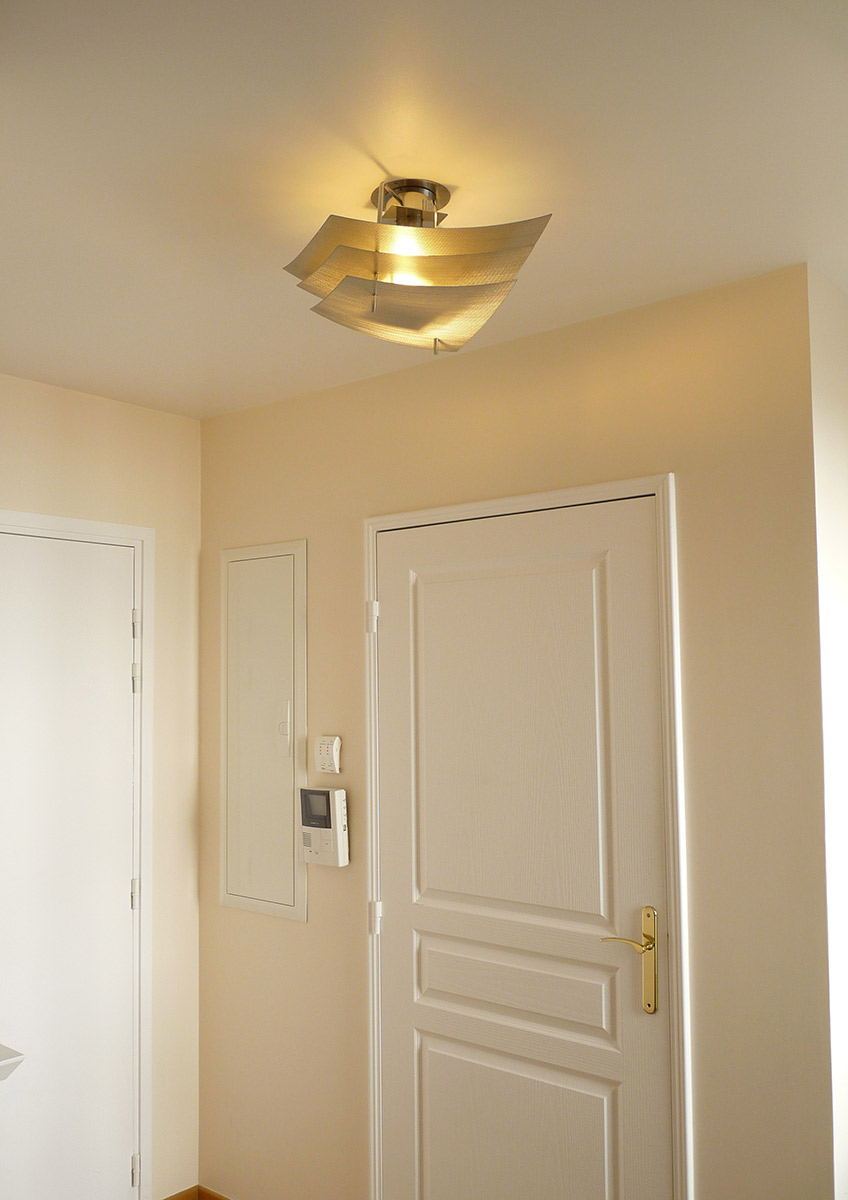 Lamp ceiling light eclipse corridor entrance Thierry Vidé Design