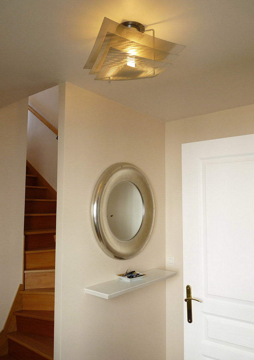Lamp ceiling light eclipse corridor stairwell Thierry Vidé Design