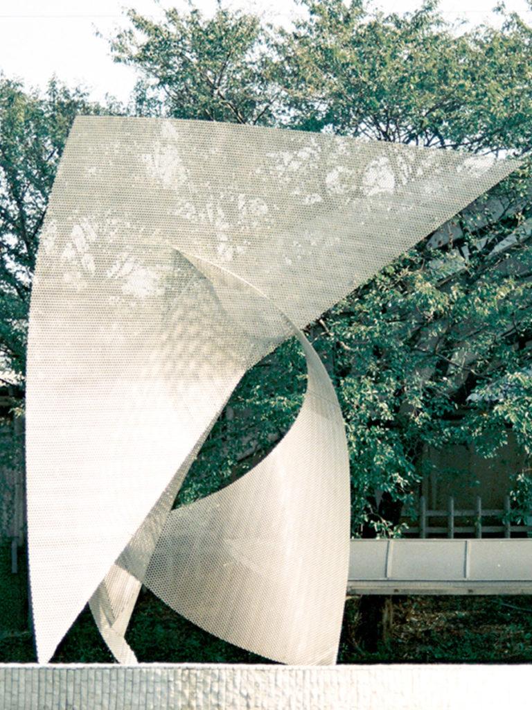 Sculpture Envol Japan by day focus Thierry Vidé Design