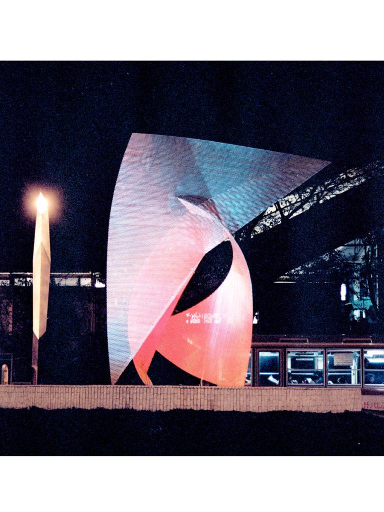 Sculpture Envol Japan by night Thierry Vidé Design