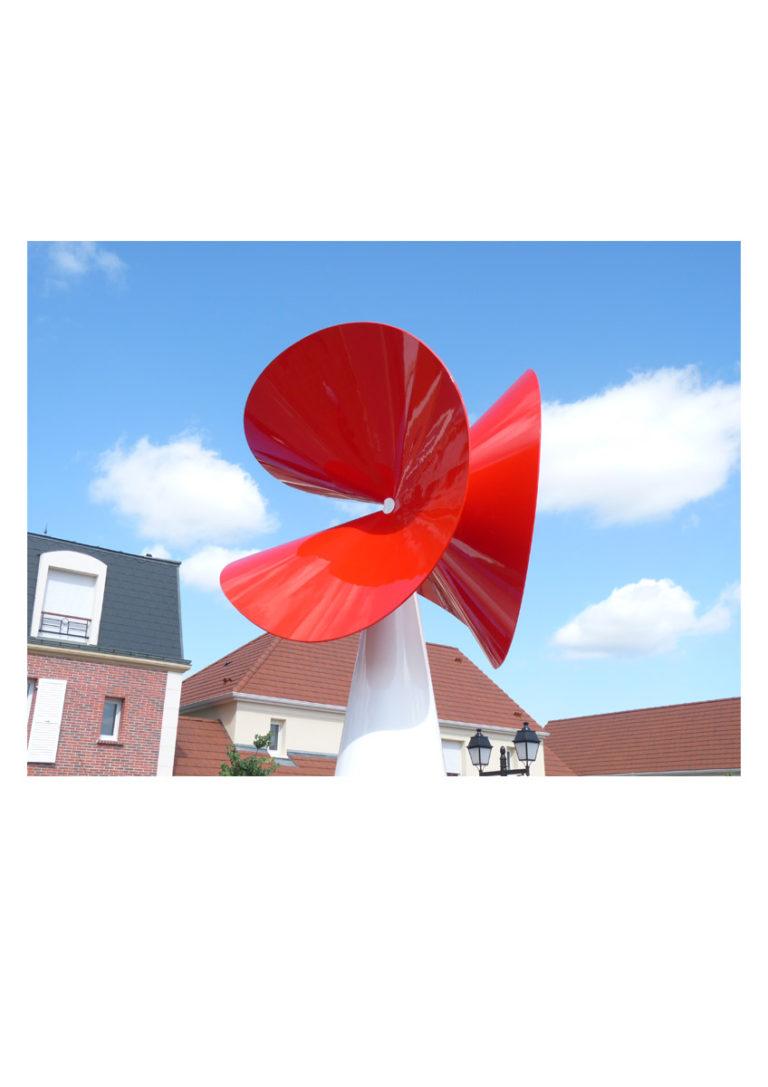 Sculpture Fleur flower zoom Thierry Vidé Design