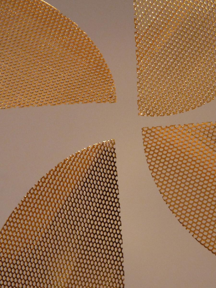 Sculpture Gold Apple focus Thierry Vidé Design