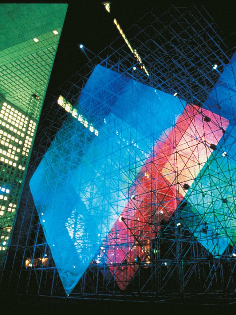 Sculpture La Défense nuit Thierry Vidé Design