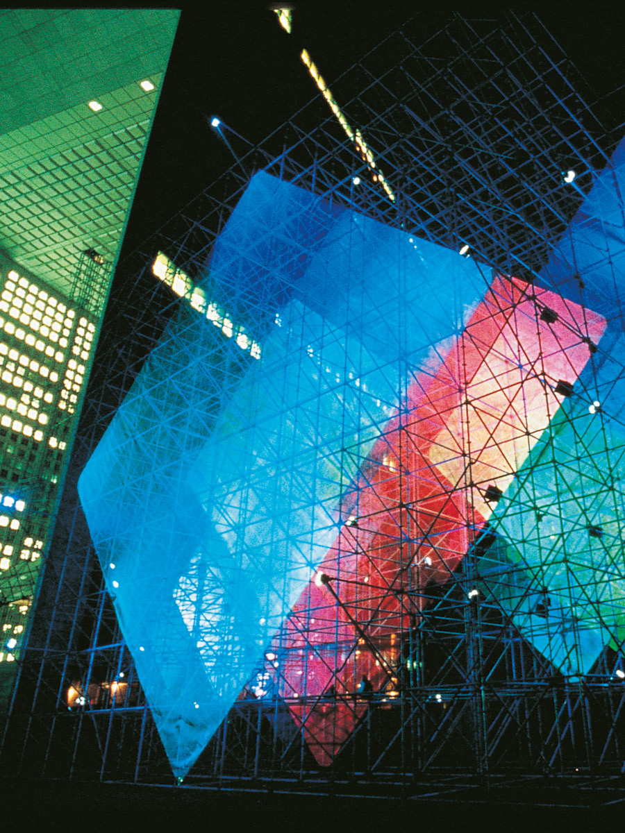 Sculpture La Défense nuit Thierry Vidé Design