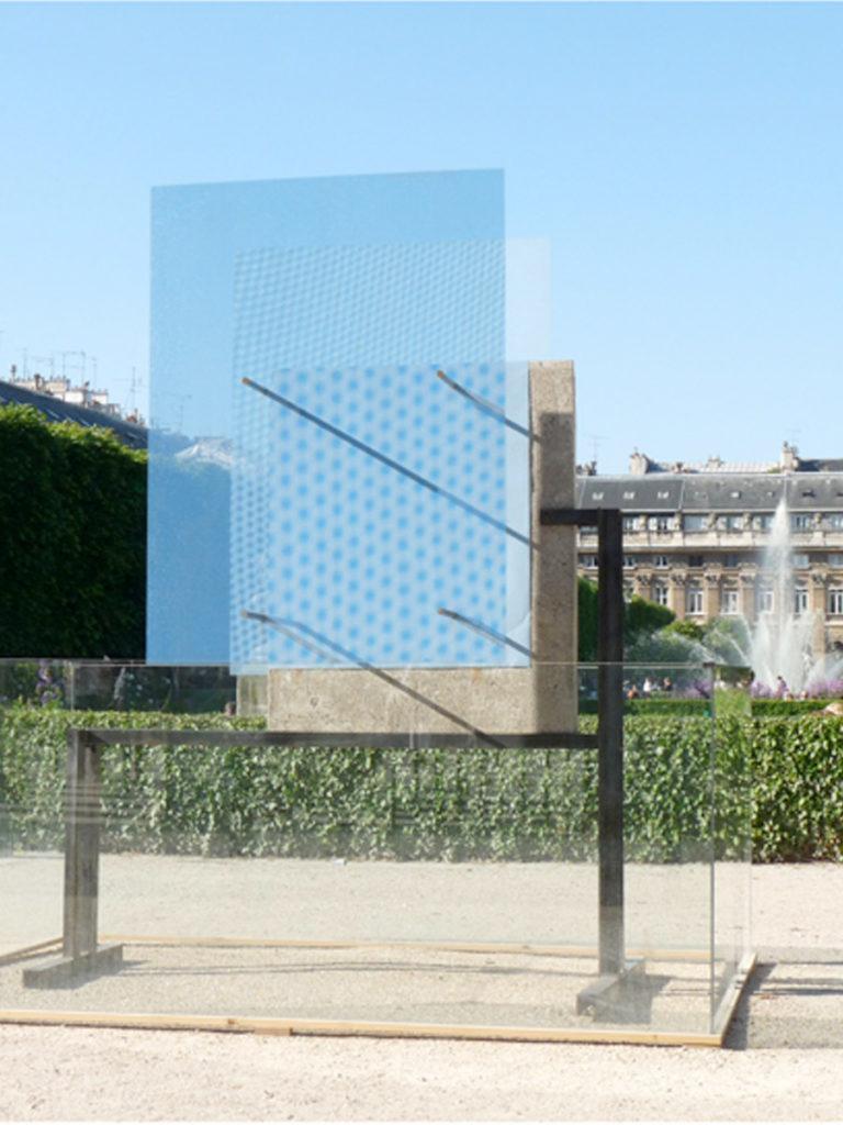 Sculpture Mur de Berlin face Thierry Vidé Design
