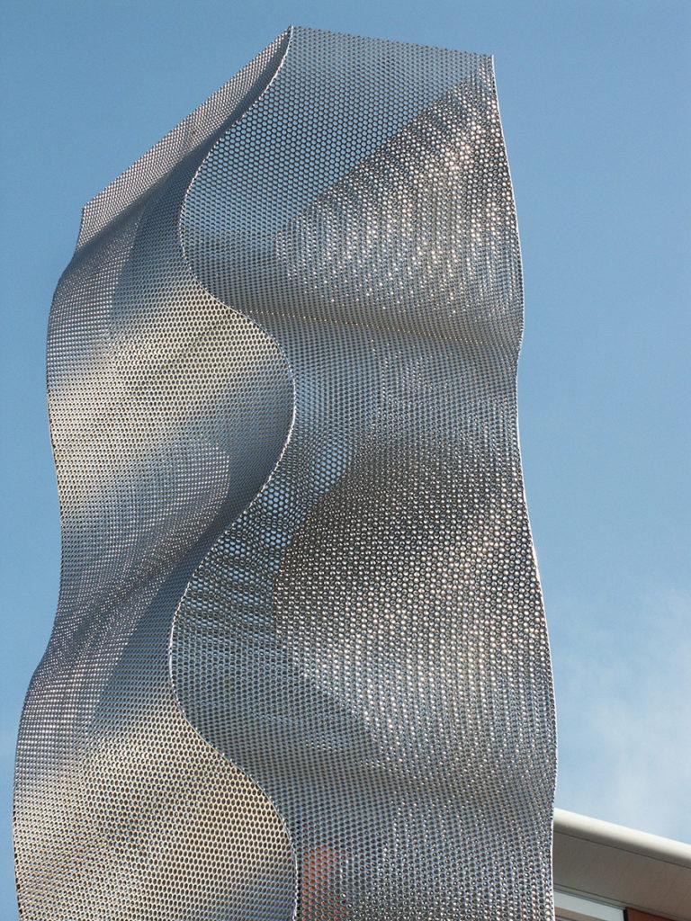 Sculpture Onde column Bois Colombes focus Thierry Vidé Design