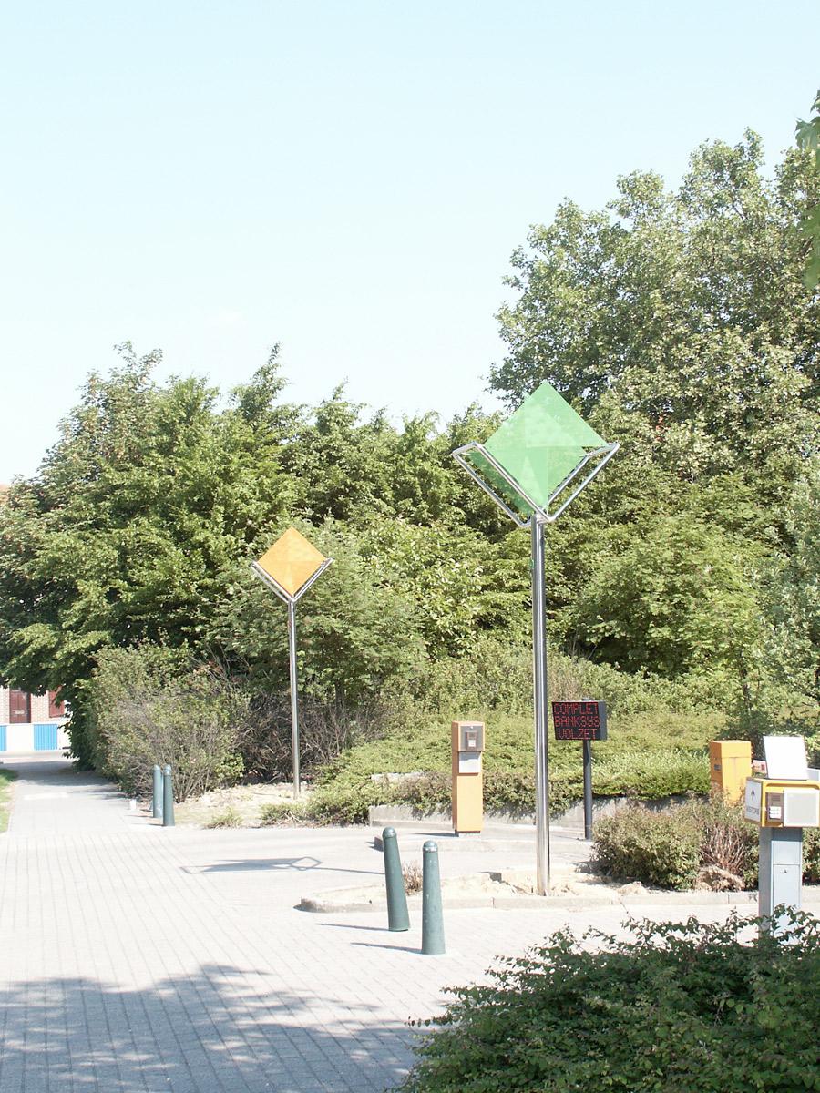 Sculpture signal de lumière Bruxelles Thierry Vidé Design