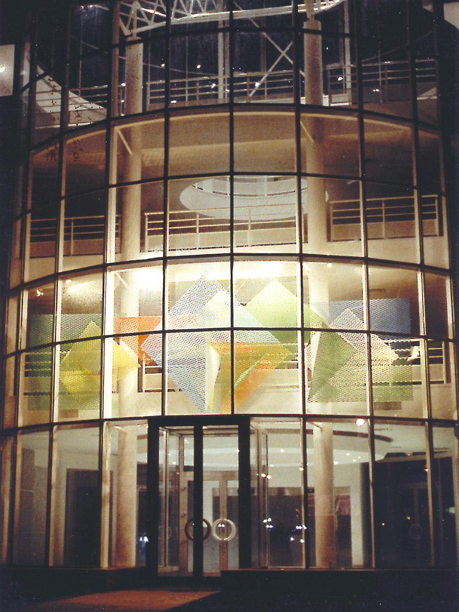Sculpture headquarters espace couleur saint quentin en yvelines Thierry Vidé Design