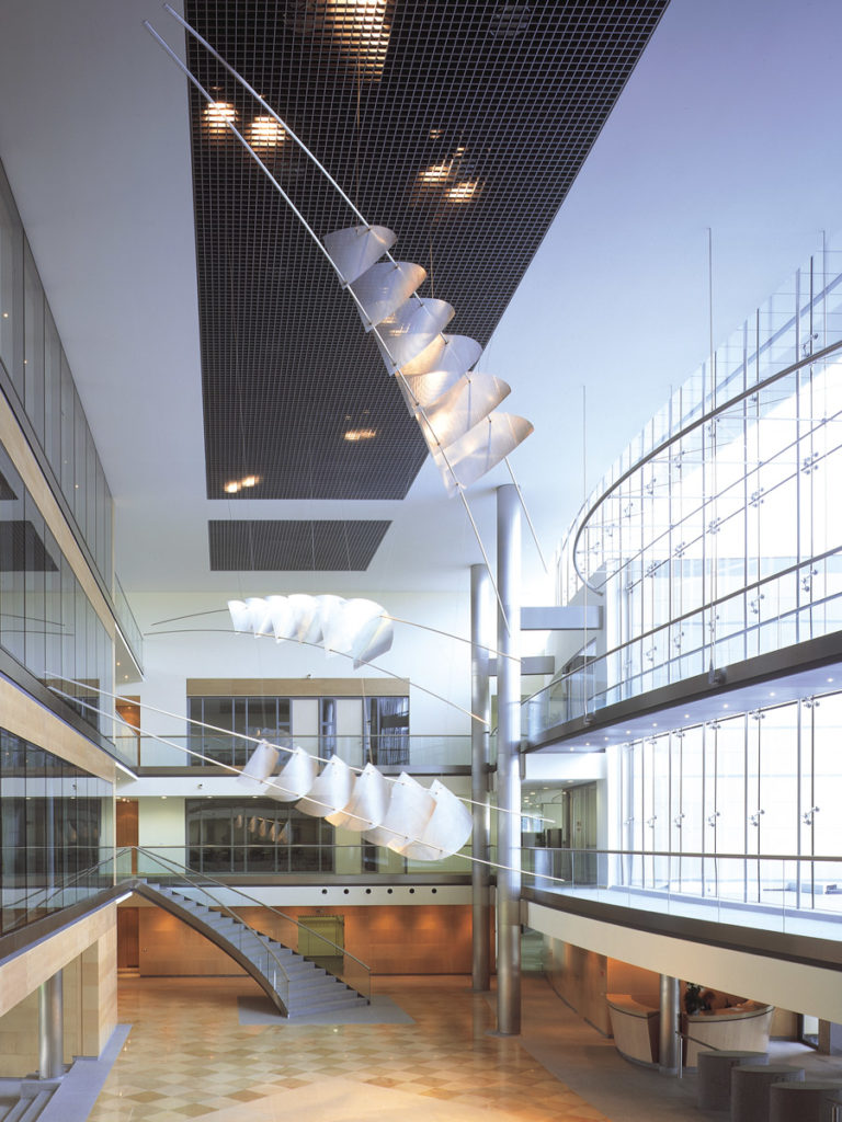 Sculpture headquarters UCB Bruxelles Thierry Vidé Design