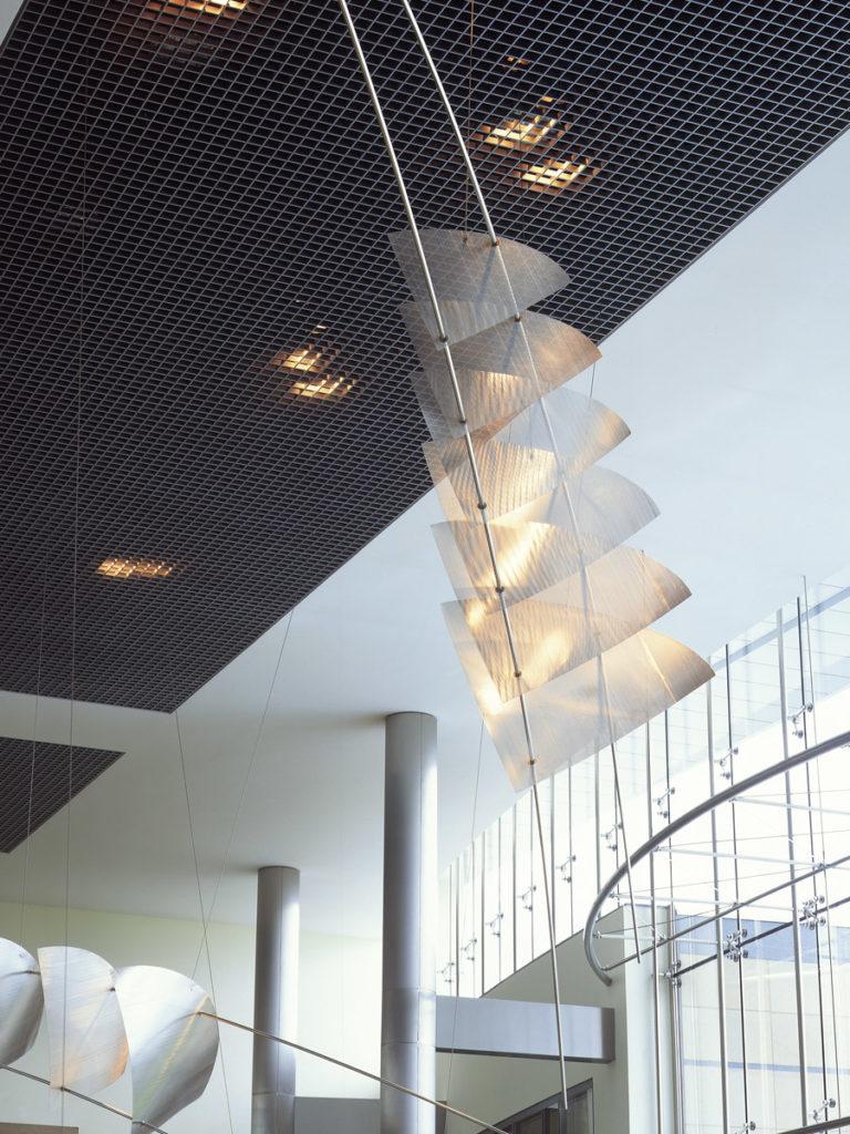 Sculpture headquarters UCB Bruxelles zoom Thierry Vidé Design