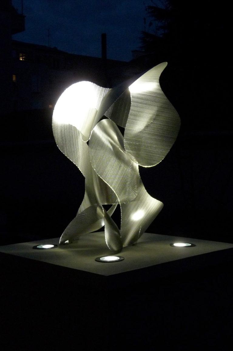 Sculpture Constellation de nuit de face Noisy le Grand Thierry Vidé Design