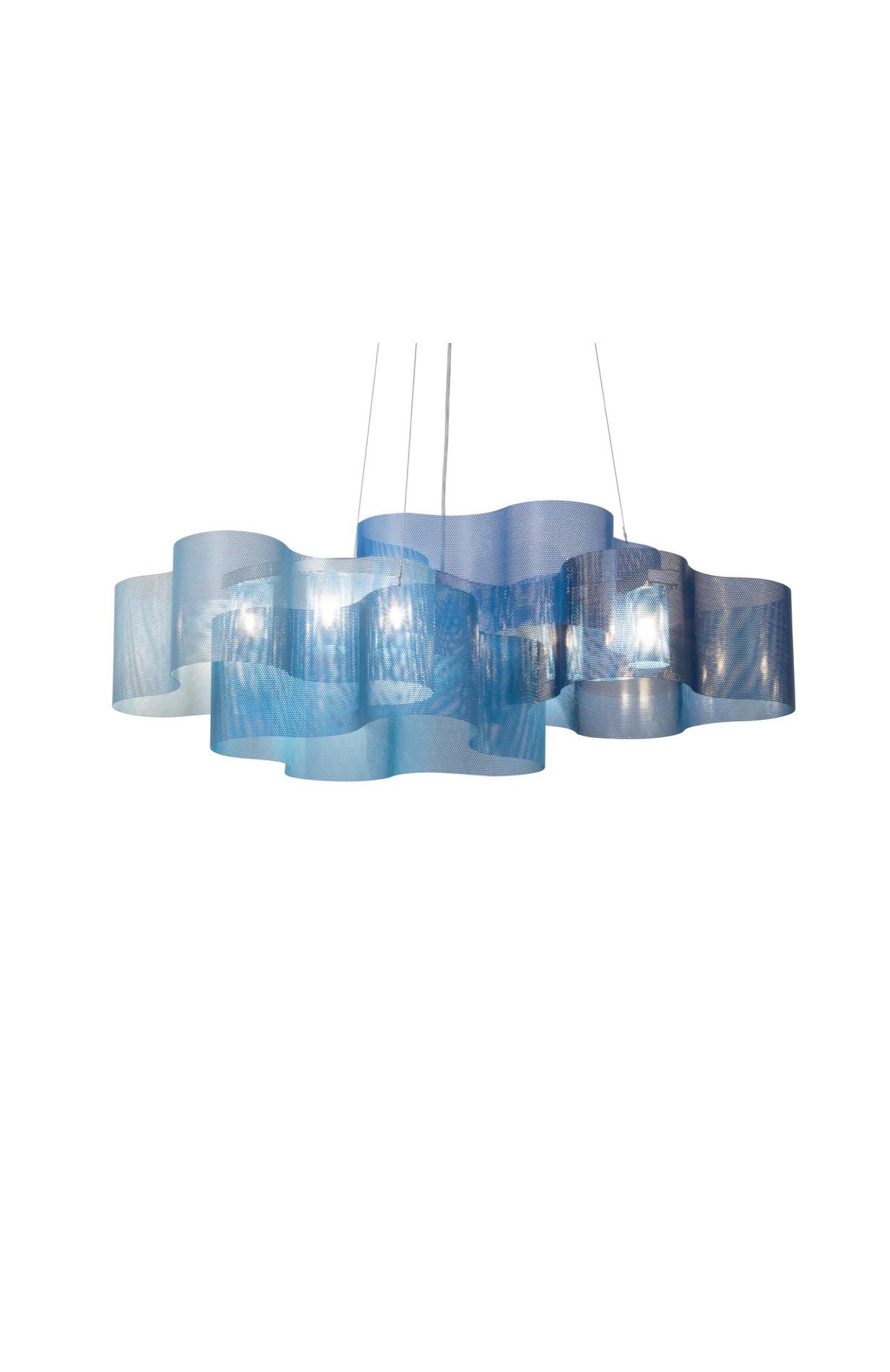 luminaire suspension nuage bleu allumé therry vidé