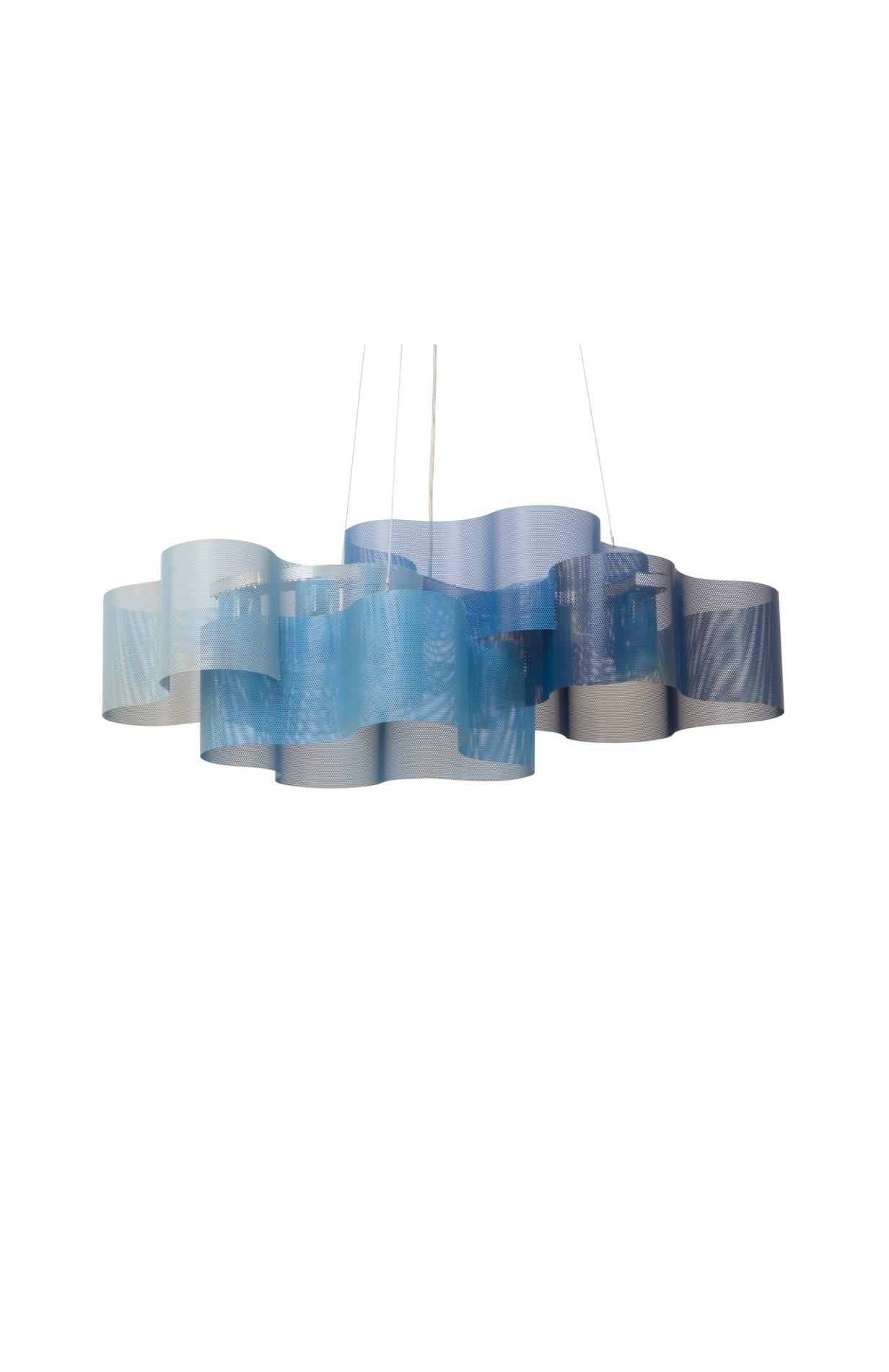 luminaire suspension nuage bleu étent therry vidé