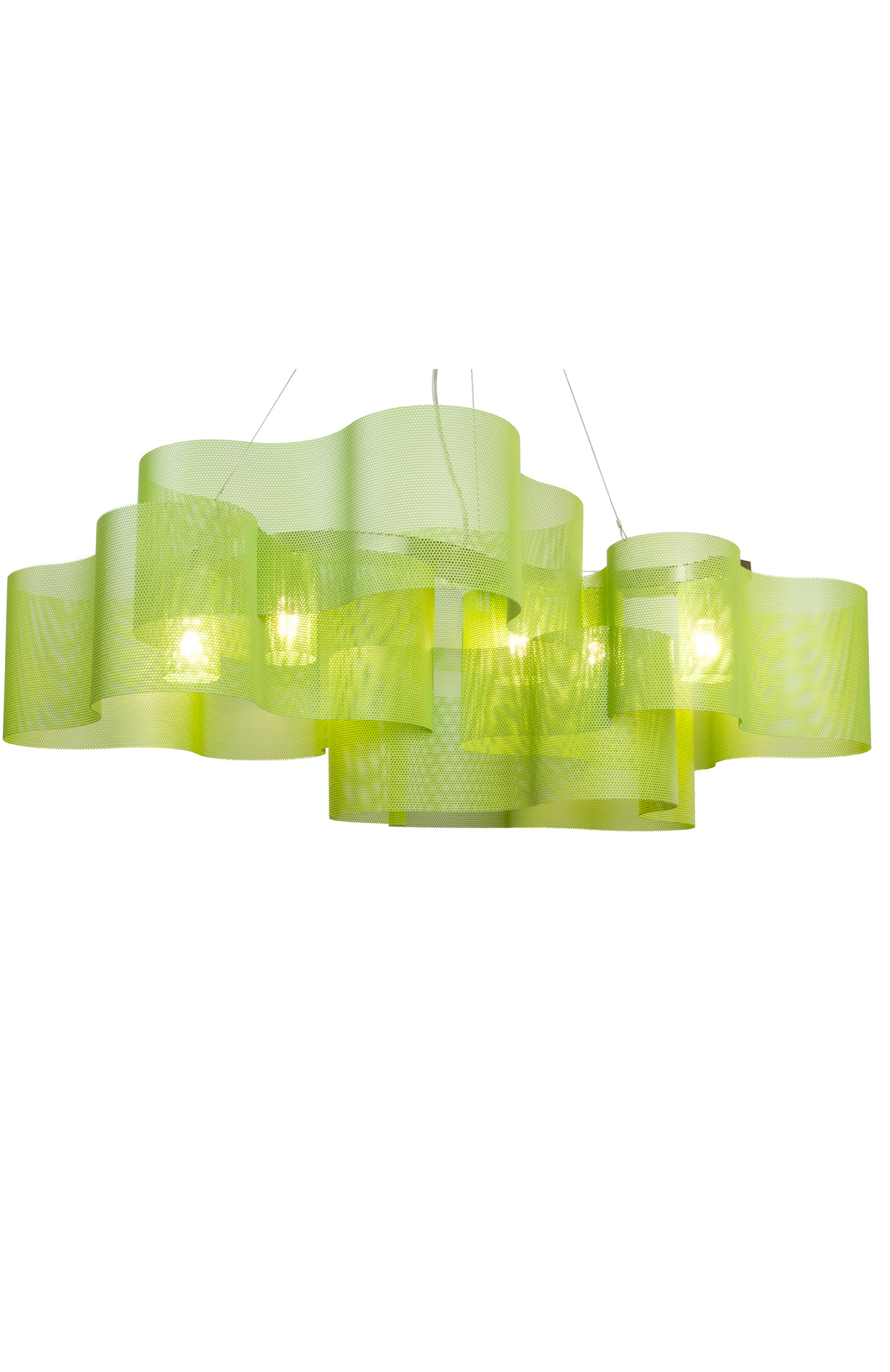 luminaire suspension nuage vert pentone greenery therry vidé