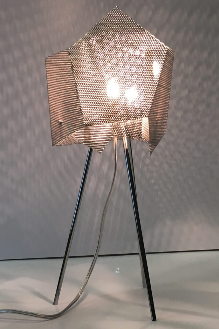 Luminaire Lampe Cristal Inox Thierry Vide Design