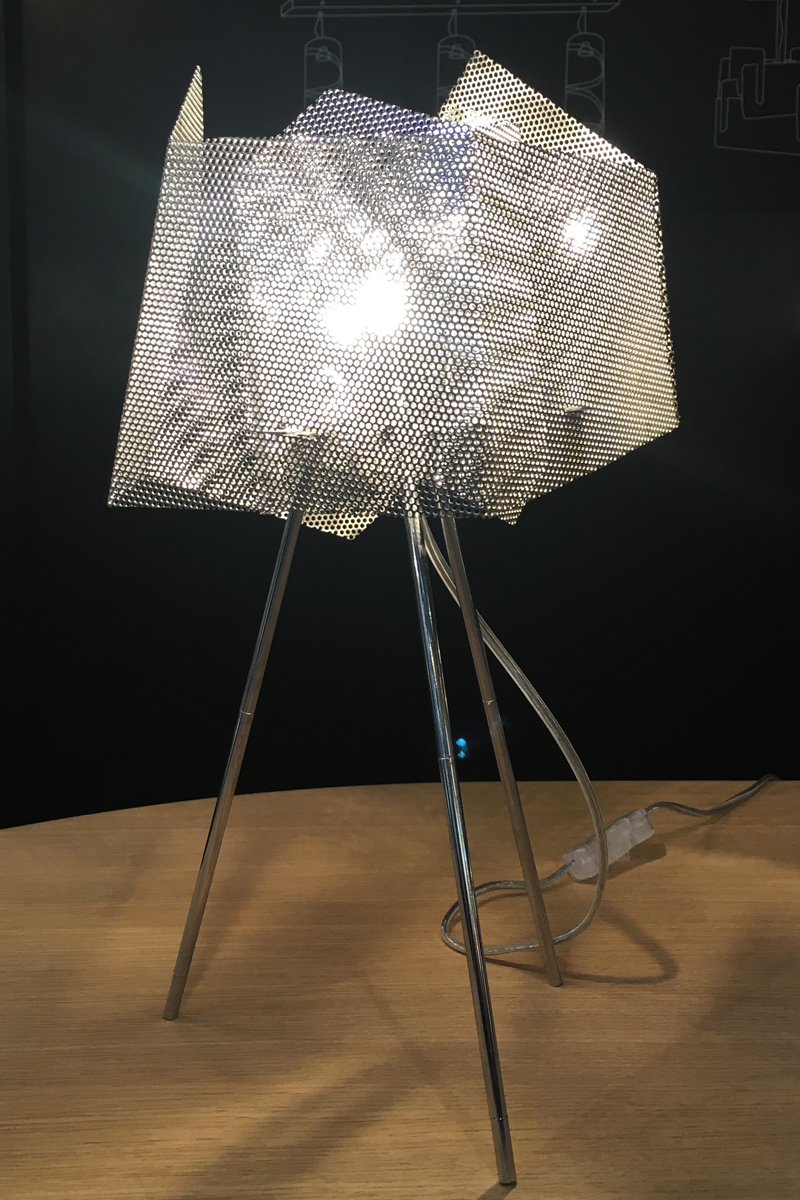 Light Crystal lamp full face stainless steel Thierry Vide Design