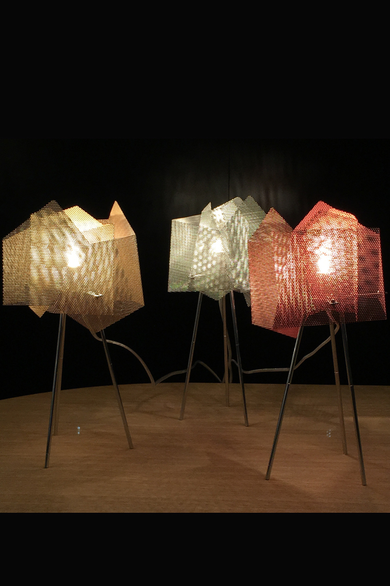 Light Crystal lamp stainless steel Thierry Vide Design