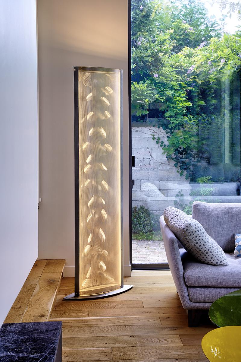 Luminaire Colonne de lumière LED Aile ronds appartement Thierry Vidé Design