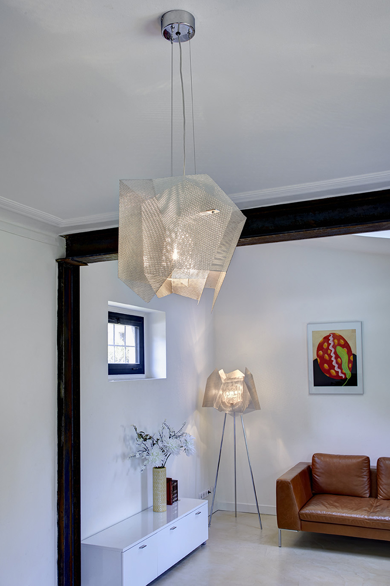 Luminaire Suspension Cristal petit focus Thierry Vidé Design