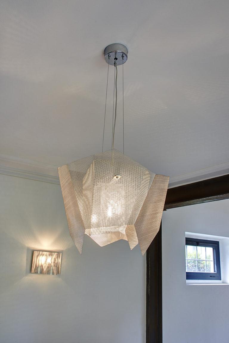 Luminaire Suspension Cristal petit focus Thierry Vidé Design