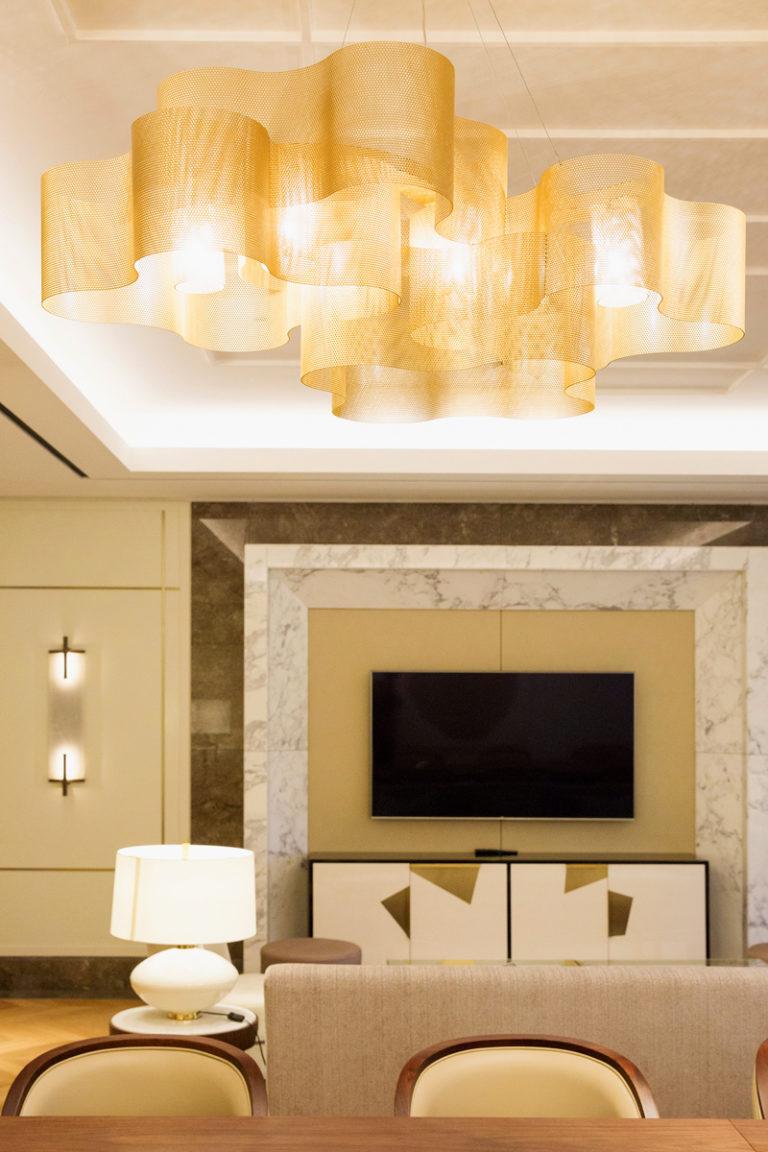 Lighting suspension Cloud medium size Hotel Lotte - Korea Thierry Vidé Design