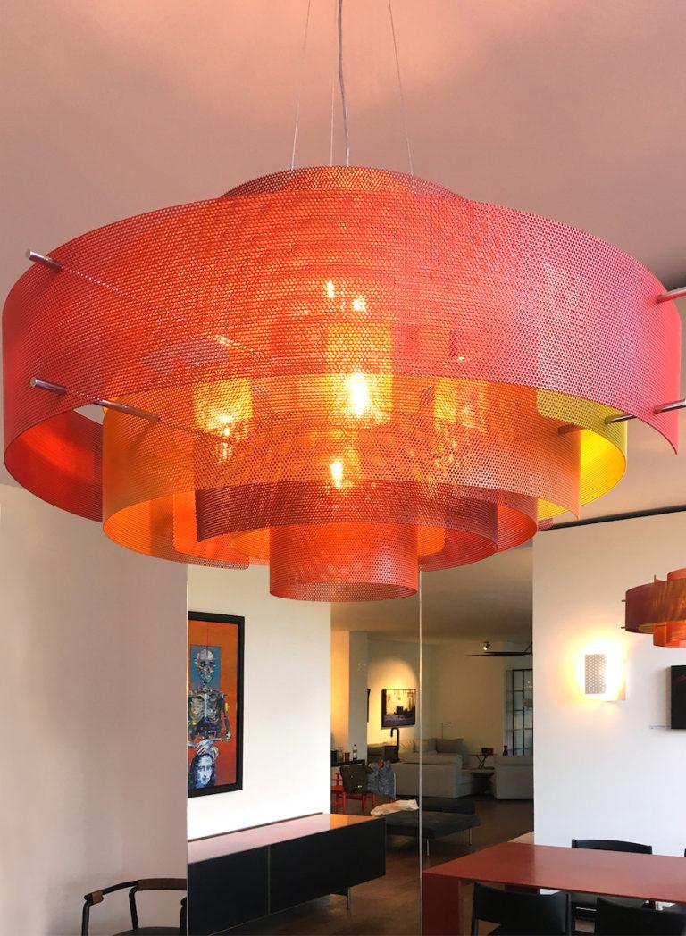 Luminaire Suspension Galaxie modèle medium entrée Thierry Vidé Design - Couleur