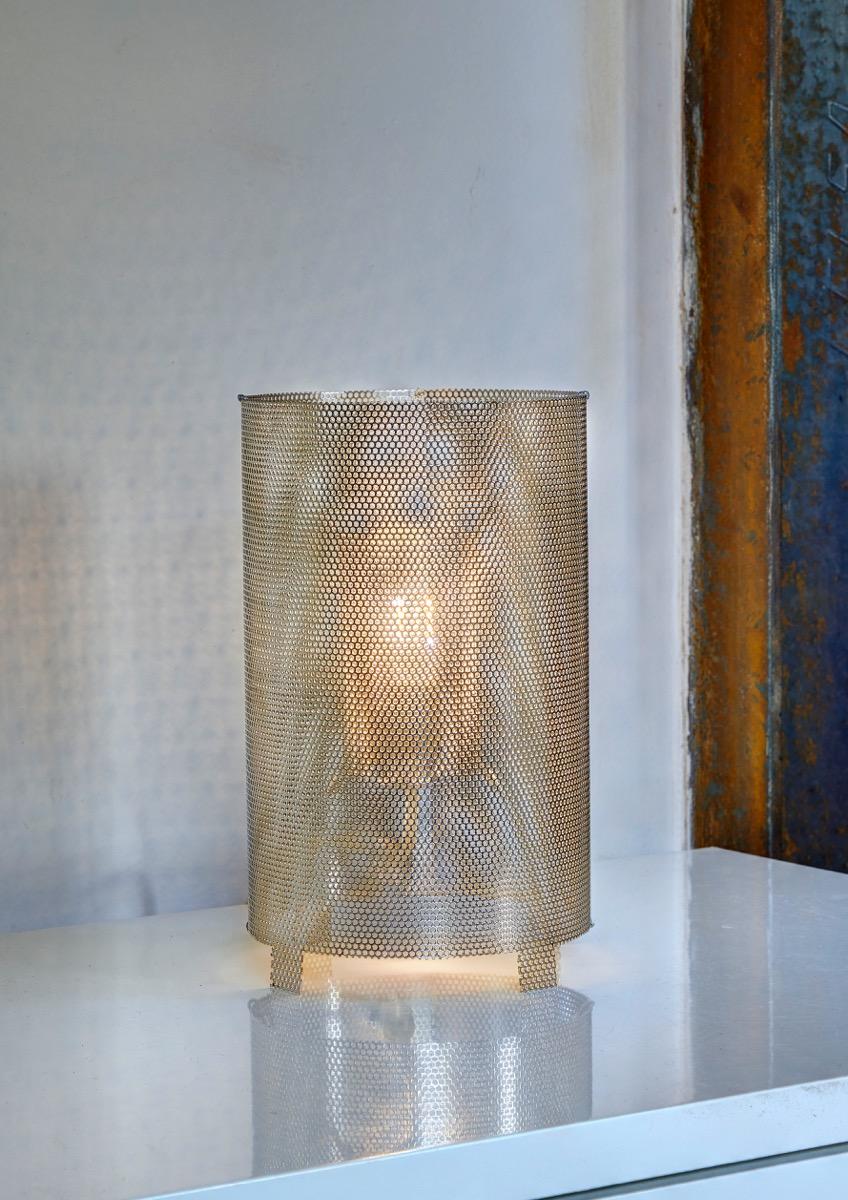 Lampe Lévitation inox perforé - luminaire Thierry Vidé Design