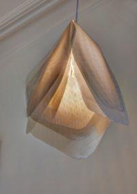 Suspension Pétale inox perforé - luminaire Thierry Vidé Design